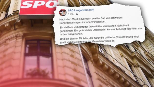 SPÖ attackiert Innenminister - aber den falschen