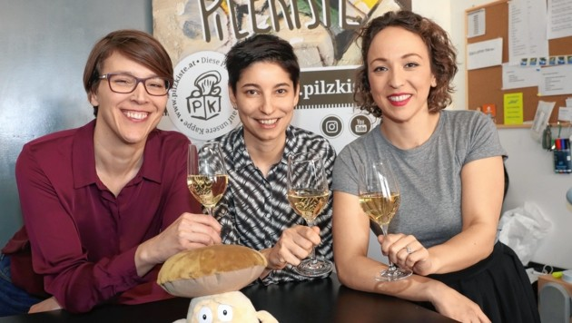 Nina Bercko, Jasmin Kabir und Mercedes Springer (v. li) freuen sich über ihr Geschäftsmodell (Bild: Juergen Radspieler)