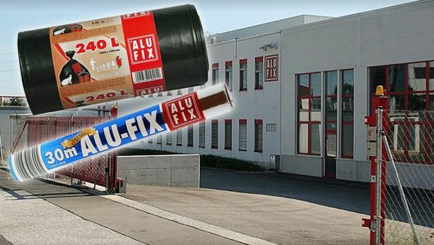 Die Alufix Folienverarbeitungsgesellschaft m.b.H. mit Sitz in Wiener Neudorf (Bild: Amazon, Google Maps, krone.at-Grafik)