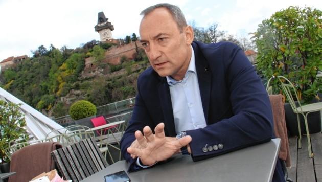 Der Grazer Vizebürgermeister Mario Eusstachio (Bild: Kronenzeitung)