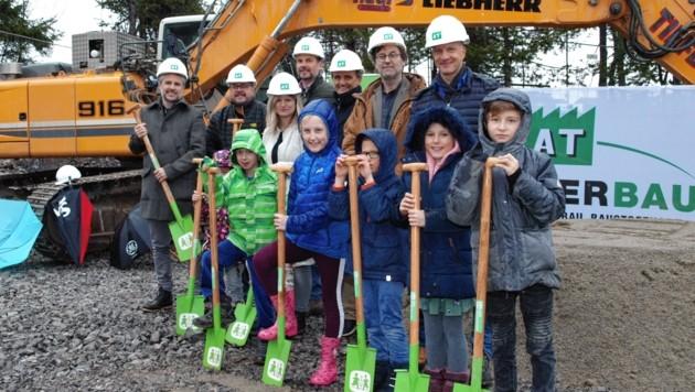 Auch die Kinder freuen sich auf die neuen Wohngruppen. (Bild: Daum Hubert)