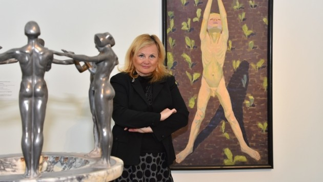 Elisabeth Nowak-Thaller, Vizedirektorin Kunstmuseum Lentos inszeniert Jugendstil. (Bild: LiveBild)