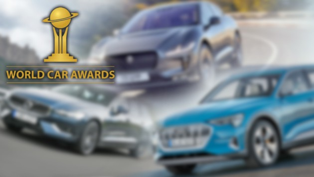 (Bild: Volvo, Audi, Jaguar, World Car Award, krone.at-Grafik)