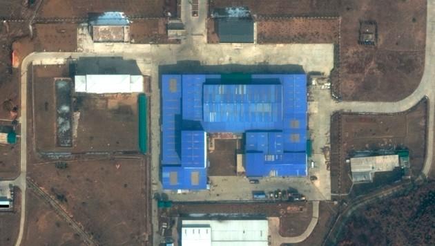 Satellitenbild der nordkoreanischen Testanlage Sanumdong (Bild: DigitalGlobe/Maxar)
