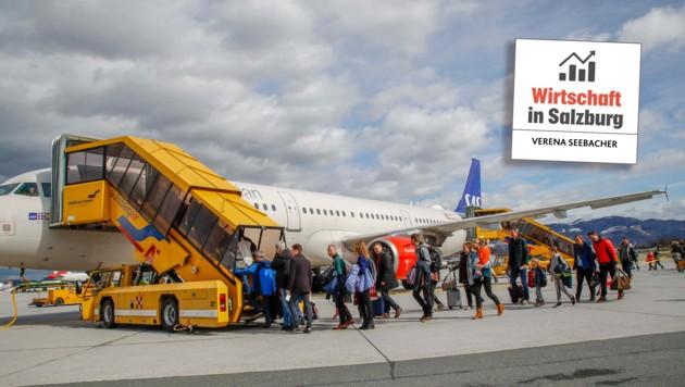 Alleine jeden Samstag fliegen sechs Maschinen nach Kopenhagen, zusätzlich gibt es eine Verbindung nach Billund, dem Lego-Geburtsort (Bild: Markus Tschepp)