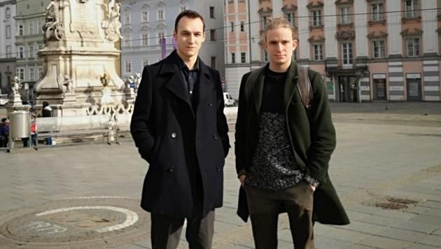 Friedrich Eidenberger (links) und Tim Weckenbrock sind bald wieder am Landestheater zu sehen. (Bild: Jasmin Gaderer)