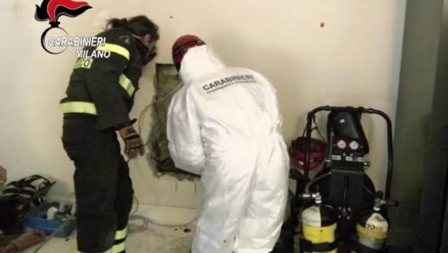 Hier wurde der Leichnam entdeckt. (Bild: Carabinieri Milano)