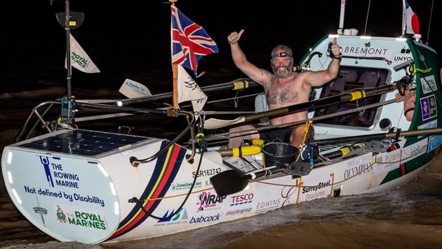 Lee Spencer bei seiner Ankunft in Französisch-Guayana (Bild: AFP/Jody Amiet)