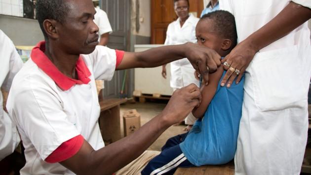 Masern-Impfkampagne in Madagaskar (Bild: AFP/Mamyrael)