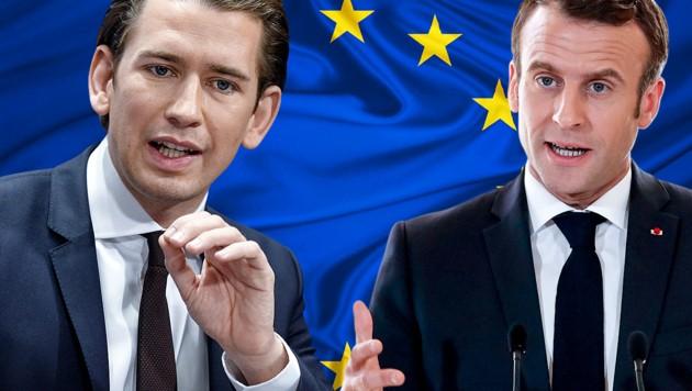 (Bild: APA/HANS PUNZ, APA/AFP/POOL/Christophe Ena, stock.adobe.com, krone.at-Grafik)