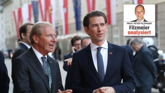 Über den Ausgang der Gemeinderatswahlen freuen sich auch Landeshauptmann und Kanzler (Bild: Land Salzburg)