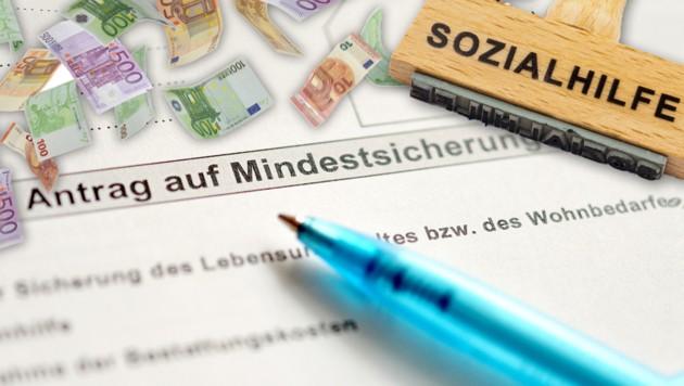 Ministerin Aschbacher möchte verstärkt gegen Sozialbetrug vorgehen. (Bild: stock.adobe.com, APA/Barbara Gindl, krone.at-Grafik)