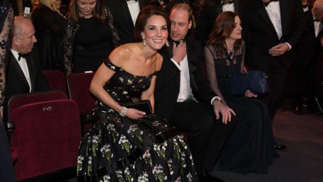 Ihr Bafta-Kleid aus dem Jahr 2017 ließ die Herzogin ein wenig umarbeiten. (Bild: AFP)