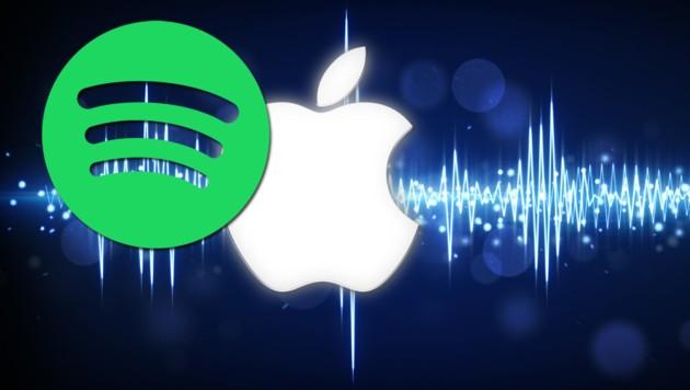 (Bild: Spotify, Apple, stock.adobe.com, krone.at-Grafik)