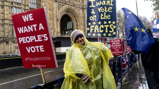 Brexit-Gegner in London (Bild: AFP)