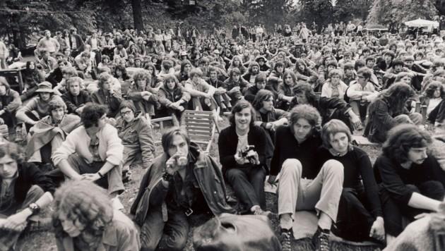 """Als """"Mini-Woodstock"""" ging das Festival Poppendorf' 71 in die steirische Popgeschichte ein. (Bild: Prtivatsammlung Branko Lenart)"""