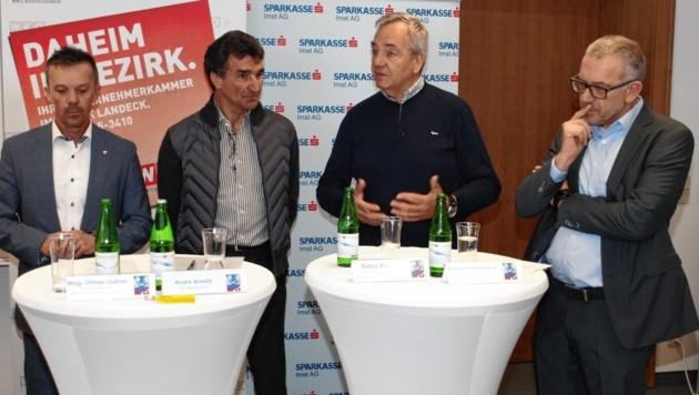 """Zogen begeistert """"WaS""""-Bilanz: Otmar Ladner, Initiator Andre Arnold, Franz Raich und Bernhard Frischmann (von links). (Bild: Hubert Daum)"""