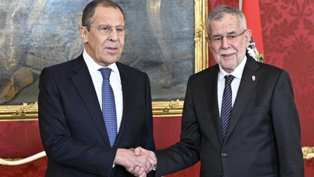 Russlands Außenminister Lawrow bei Van der Bellen