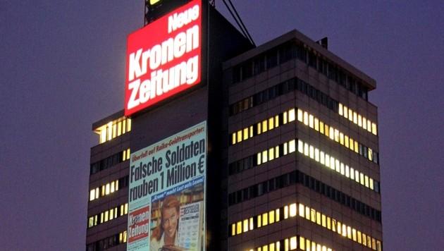 """Die """"Krone""""-Zentrale in der Muthgasse in Wien (Bild: Peter Tomschi)"""