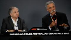 Formel-1-Macher Chase Carey (re.) und FIA-Präsident Jean Todt (Bild: AP)