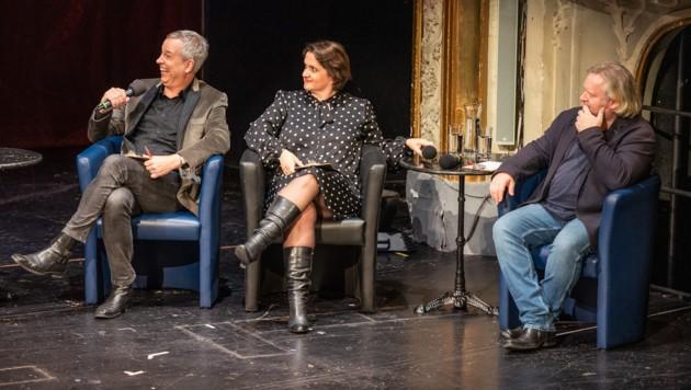 """Die """"Sidebar""""-Jury: Thomas Hermanns, Magda Leeb, Gregor Seberg (Bild: Manfred Siebinger)"""
