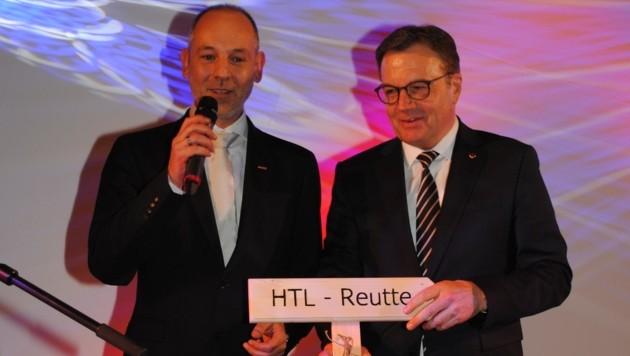 WK-Bezirksobmann Christian Strigl und LH Günther Platter sind begeistert.