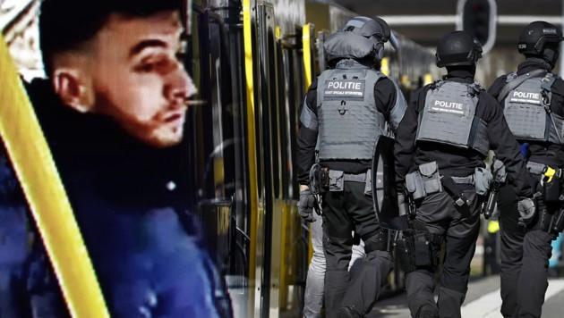 (Bild: APA/Robin van Lonkhuijsen, Polizei Utrecht, krone.at-Grafik)