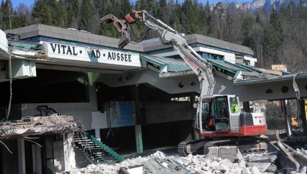 2014 wurde das alte Vitalbad abgerissen (Bild: Jürgen Radspieler)