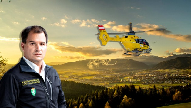 Der für den Katastrophenschutz zuständige Michael Schickhofer (SPÖ) stellt noch für 2019 einen dritten Rettungshubschrauber in Aussicht. Der Standort soll zwischen Bruck und Spielberg liegen - beste Chancen hat St. Michael. (Bild: Krone-Montage)