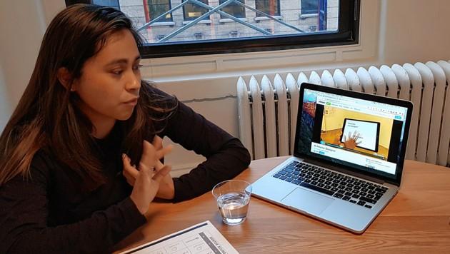 Rhina Portillo, deren intelligenter Inneneinrichter via Smartphone schon XXXLutz oder Amazon zu den Partnern zählt.