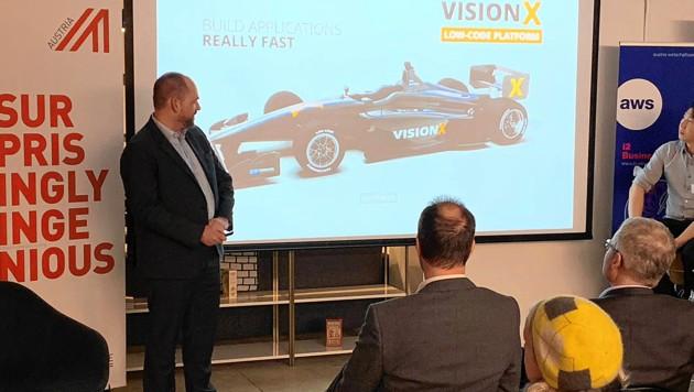 Roland Hörmann, dessen SIB Vision das Bauen von Homepages beschleunigt und mit Kunden wie Bosch und OMV 1,8 Millionen Euro Umsatz macht.