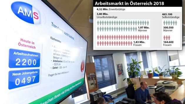 (Bild: APA, APA/ROLAND SCHLAGER, krone.at-Grafik)