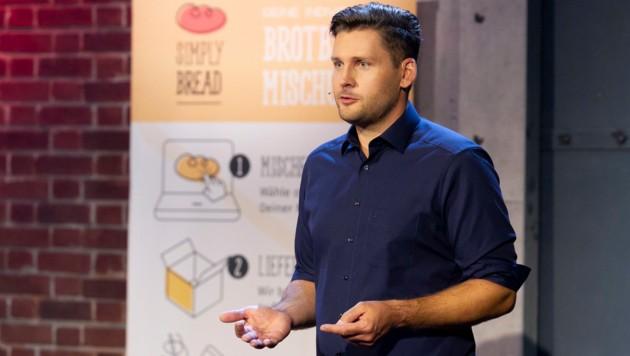 Florian Hoffmann gründete vor zwei Jahren die Marke Simply Bread. (Bild: 2 Minuten 2 Millionen/Gerry Frank)