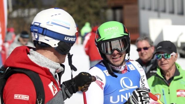 ÖSV-Coach Schwarzacher-Joyce gratulierte Matt (Bild: Tröster Andreas)