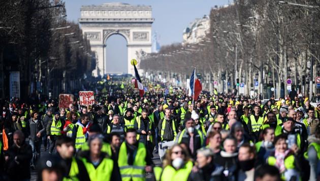 """Gelbwesten""-Demo im März 20919 in Paris (Archivbild) (Bild: AFP/Eric Feferberg)"