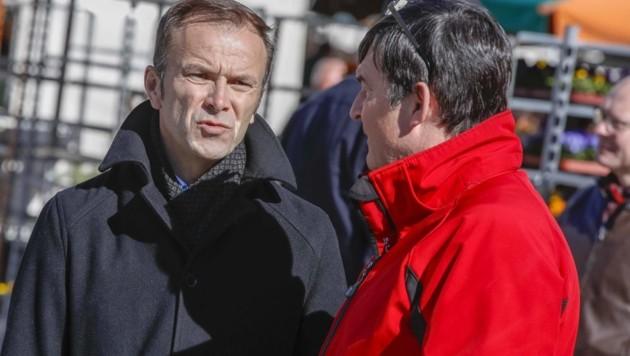 SPÖ-Parteichef Wanner (r.) soll anstelle von Auinger die Parteienverhandlungen führen. (Bild: Tschepp Markus)