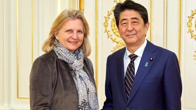 """Kneissl in Japan: """"Zögerlichkeit zu China ist da"""""""