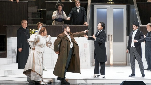 """Großartiges Ensemble in """"Lucia di Lammermoor"""" an der Grazer Oper (Bild: Werner Kmetitsch)"""