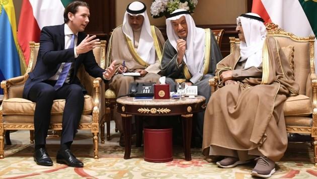 Großes Interesse an Kanzler Kurz in Kuwait