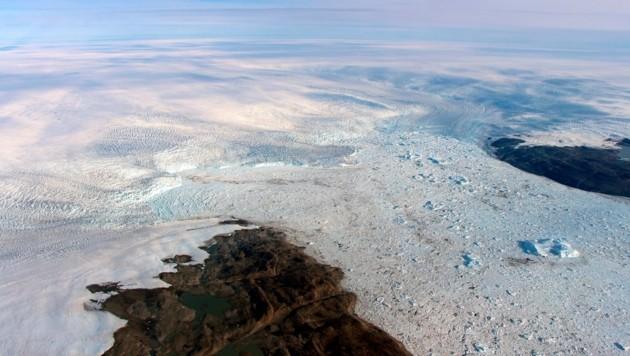Der Jakobshavn-Gletscher ist einer der wichtigsten Gletscher in Grönland. (Bild: NASA)