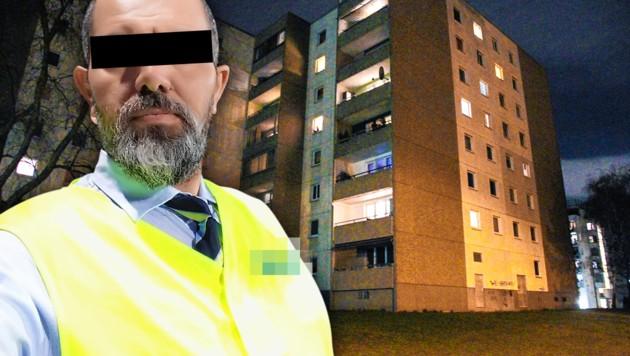Im Visier der Polizei: Qaeser A., Vater von fünf Kindern. Er steht unter Terror-Verdacht. (Bild: facebook.com, Andi Schiel, krone.at-Grafik)