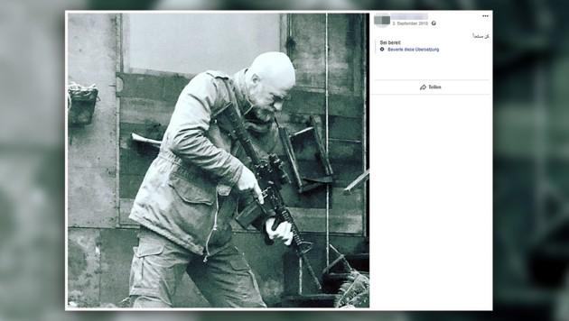 """""""Sei bereit"""" ist neben dem Facebook-Posting zu lesen. (Bild: Screenshot facebook.com)"""