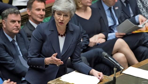 Premierministerin Theresa May hat die Kontrolle über das Brexit-Chaos längst verloren. (Bild: APA/UK PARLIAMENT/AFP/JESSICA TAYLOR)