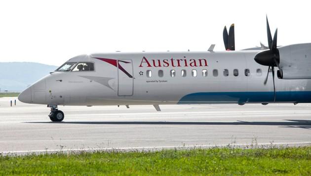 Eine Dash-8 400 der Austrian Airlines (Bild: AUA/Michèle Pauty)