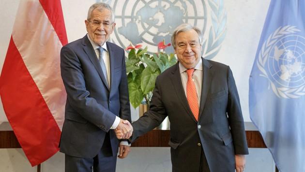 Van der Bellen mit UN-Generalsekretär Antonio Guterres in New York