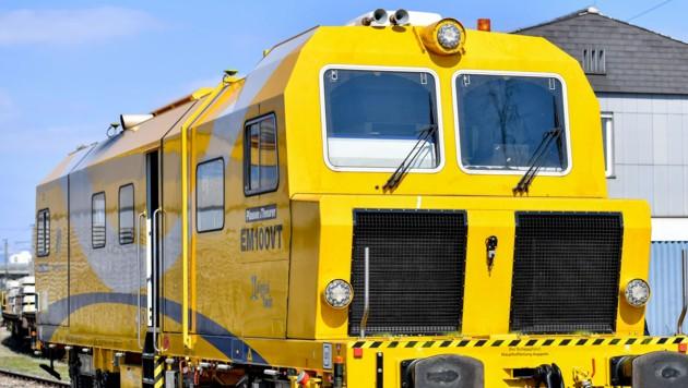 Ein High-Tech-Messwagen von Plasser & Theurer für das ÖBB-Schienennetz (Bild: Harald Dostal)