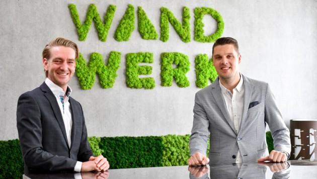 Johann Gondosch (l.) und Bernd Bachmayr treiben Wand Werk voran. (Bild: © Harald Dostal)