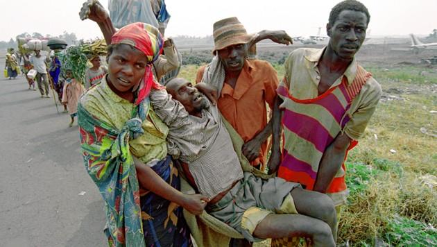 Das Leid der Bevölkerung Ruandas war unbeschreiblich. (Bild: AFP)