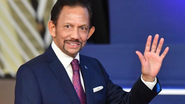 Bruneis Sultan Haji Hassanal Bolkiah (Bild: APA/AFP/EMMANUEL DUNAND)