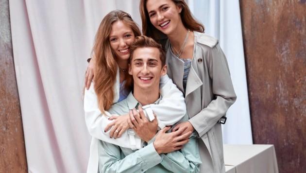 Eleonore, Gloria und Ferdinand, die Kinder von Karl und Francesca Habsburg, trafen sich für ein Modeshooting in Wien. (Bild: Starpix / Alexander Tuma)